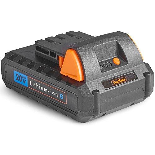 VonHaus 1,5 Ah Li-Ion Ersatzakku Zusatzakku - Batterie für Geräte der VonHaus 20V Max Lithium-ion G Range