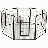 AUFUN Valla para Perros 8 Piezas Elementos Valla 80x100cm recinto Exterior para pequeños Animales y roedores