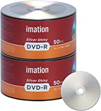 100 Pack Imation DVD-R 16X 4.7GB/120Min Silver Shiny Blank Media Recordable Movie Data Disc