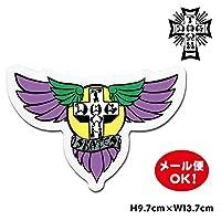 ドッグタウン スケートボード ウイング ロゴ ステッカー 6インチ【Dogtown Skateboards Wing Logo Die Cut sticker 6inch (Purple/Yellow)】 デカール