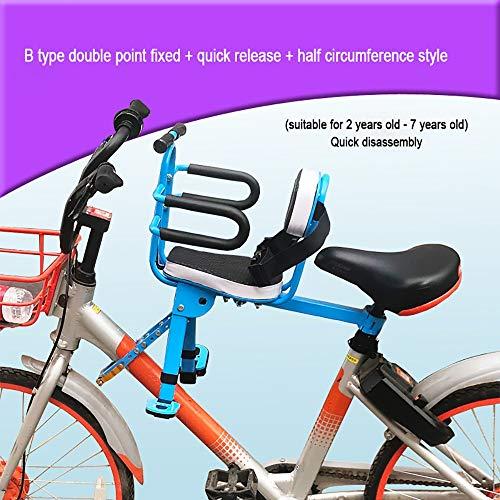 FHGH Silla Bicicleta NiñO,Asiento Bicicleta NiñO Asiento Infantil para Bicicleta Bicicleta De MontañA VehíCulo Recreativo Bicicleta Plegable Asiento Seguridad Bebé Asiento Delantero