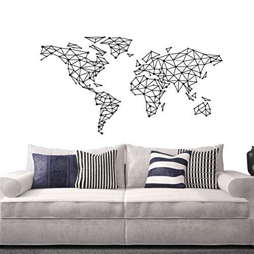 Adhesivo decorativo para pared, diseño de mapa del mundo, d