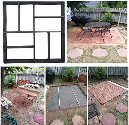 Futaikang Pflasterform Gehweg Garten Betonpflaster Gießform Garten Schablone mit 8 Kammer,DIY Form für PflastersteineGarten Pfad Muster Pflasterung