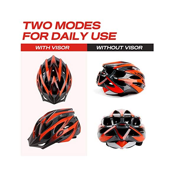 Adult Cycling helmet MOON Bike Helmets for Adults Lightweight 25 Vents Dial Fit System Removable Visor CPSC Certified Bicycle, Road Cycling…