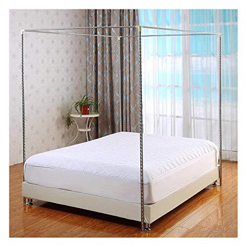 Mosquitera de acero inoxidable con marco para la cama Poste de Cortina de Cama de Acero Inoxidable Poste de Dosel de la Cama de la Esquina 4 Apto para Cama de Todos los tamaños,25mm,1.5×2m bed