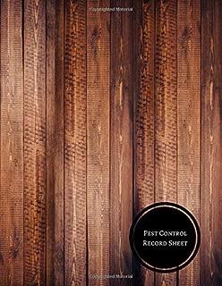 pest control log sheet