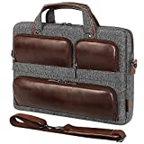 DOMISO 17 Inch Laptop Shoulder Bag, Messenger Briefcase Multifunction Carrying Handbag for 17.3' notebook computers, HP Pavilion 17/Dell Inspiron 17, Lenovo/Acer/HP/MSI/ASUS,Bussiness Luggage Strap