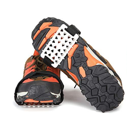 SHAO1 Crampones Antideslizantes, Crampones De Escalada Paquete De Velcro 26 Crampones De Dientes Antideslizante Zapato Cubierta Hielo Nieve Anticaída