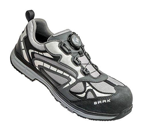 BAAK 5080 Zapato de seguridad S1 Captain Jogi, S1, negro / gris, talla 45