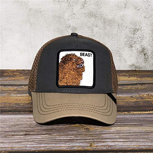NYJNN Berretto da baseballCappello da baseball ricamato da camionista cappello moda per uomo e donna cappello regolabile cappello papà nero animale