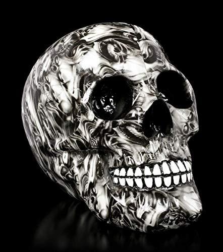 Figuren Shop GmbH Großer Gothic Totenkopf - Soul Skull | Fantasy Skull, individuell Bedruckt, H 23 cm