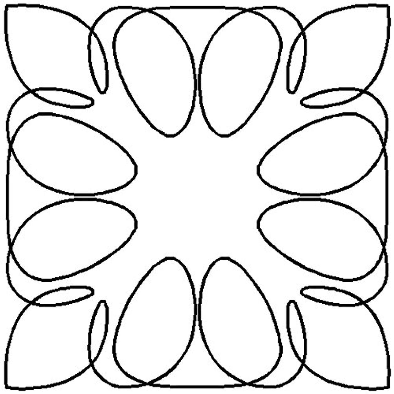 Quilting Creations Retro Block 2 Continuous Line Quilting Stencil, 7 irwfqkzocyvqizom