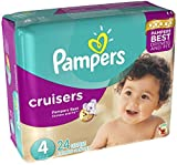 Pampers Cruisers Diapers Size 4  - Jumbo Pack 24 Count