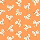 Fat Quarter Makower – Urlaub – Roller orange