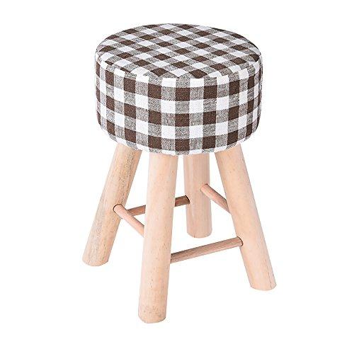 LJHA Tabouret pliable Repose-pieds créatif en bois massif/petit banc/tabouret de maquillage de tissu de mode/tabouret de sofa de salon chaise patchwork (Couleur : E)