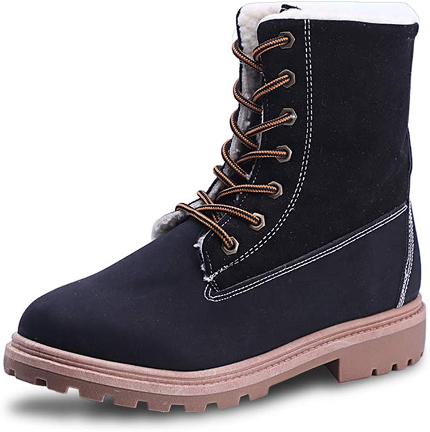 York Zhu Women's Martin Boots,Classic Women Winter Suede Ankle Snow Boots Female