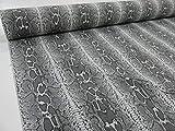 Confección Saymi Tela loneta Estampada 2,45 MTS Ref. Serpiente Gris, Doble Ancho 2,80 MTS.