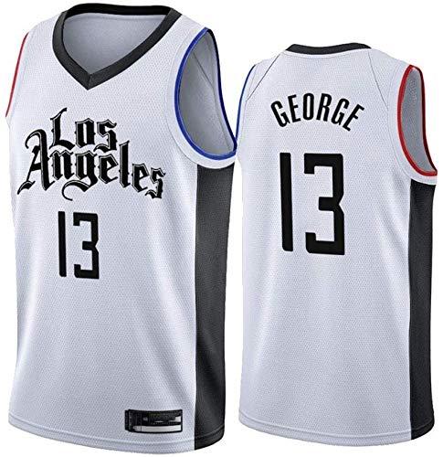 YB-DD Basket Jersey NBA Los Angeles Clippers # 13 Paul George Traspirante Indossare Maglia Pallacanestro Swingman Jerseys Sport T-Shirt Maglie,L:175~180cm