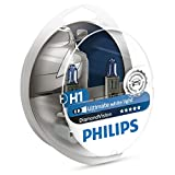 Philips Diamond Vision 5000K H1 Auto-Scheinwerfer-Birnen (Twin Pack von Birnen)