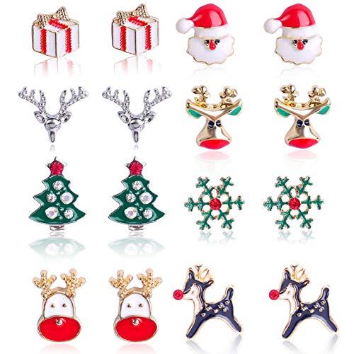 Orecchini di Natale, Natale Orecchini, Natalizie Creative Orecchini, Orecchini Creativi Decorazioni, decorazioni natalizie per donne, Orecchini Stile Natalizio, Orecchini Natalizi (8)