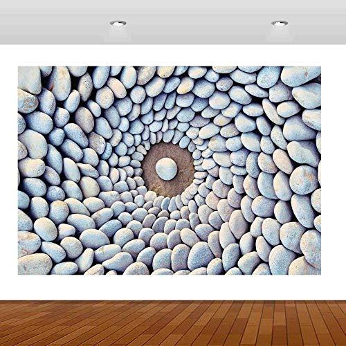 Pegatinas de pared Naturaleza hermosa playa piedras patrón 3D calcomanía pared pegatina cartel vinilo