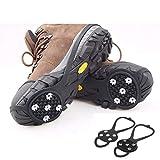 Universal antideslizante Gripper Spikes - Niños y tacos de hielo para adultos con uñas antideslizantes de 5 garras, tracción de las pinzas de hielo, zapatos duraderos y empuñaduras de nieve