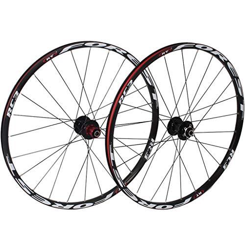 Juego de ruedas de bicicleta de montaña de 26 pulgadas, doble pared, llanta de bicicleta MTB, buje de ciclismo, 5 Palin híbrido, liberación rápida, 24 orificios, 8/9/10, rueda de bicicleta de velocida