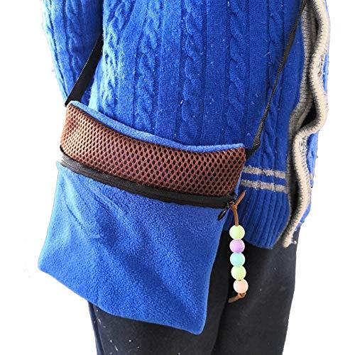 PanDaDa Kleintier Tragetasche für Hamster, Meerschweinchen, tragbare Transporttasche Ausgehende Handtaschen Mit Schultergurt, Schlafsofa Atmungsaktives Netzpaket Reißverschlusstasche Für Hamster