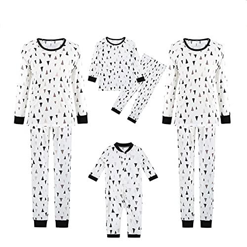 Family Christmas Pjs Matching Sets Fashion Santa Claus Print PJS Set Casual Family Sleepwear for 4 People