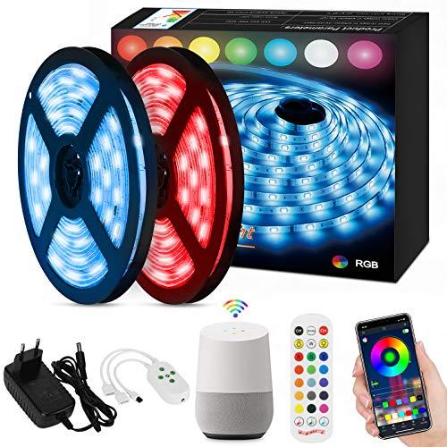 Orelpo Tiras LED 10M, SMD 5050 WiFi RGB Multicolor Luces LED con...