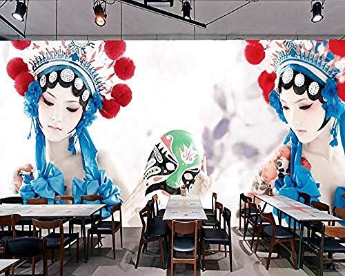Restaurant Wallpaper Customized 3D Hotel Wandbild Chinesische Stil Drama Shiling Kostüm Dekoration Restaurant Wandb Tapete wandpapier fototapete 3d effekt tapeten Wohnzimmer Schlafzimmer-430cm×300cm