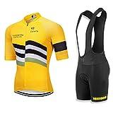 RUIKODOM Abbigliamento Ciclismo Set Nuova Collezione Estivo Abbigliamento sportivo per Bicicletta Maglia manica corta Pantaloni salopette