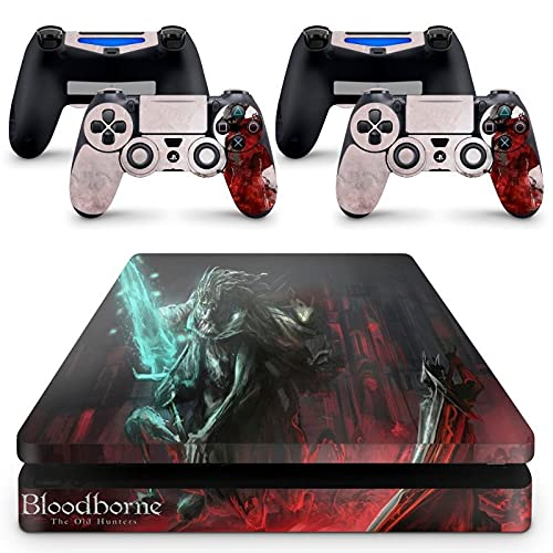 Skin Adesivo Protetor para PS4 Slim Bloodborne b1