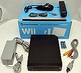 GameStop Premium Nintendo Wii BLACK Video Game Console Home System Bundle Online RVL-001 GameCube (Renewed)