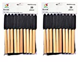 PANCLUB Foam Brush Set I Sponge Brush Paint I 2 Inch - 20 Pack I with Wood Handles I Great for Art, Varnishes, Acrylics, Stains, Crafts
