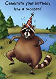 Raccoon Celebration - Oatmeal Studios Funny/Humorous Birthday Card