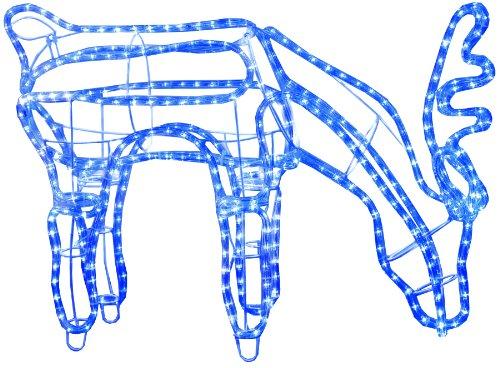 Star 802-31 3D Ropelight (Cordon Lumineux)-Silhouette Rennes, broutant 432 Bleu LED, ca. 59 x 85 cm, extérieur Box
