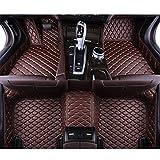 QWERQF Alfombrillas de Cuero Personalizadas para el Suelo del Coche Alfombrilla para el pie del Coche,para Aston Martin DB11 DB9 DBS Rapide Vanquish Brown