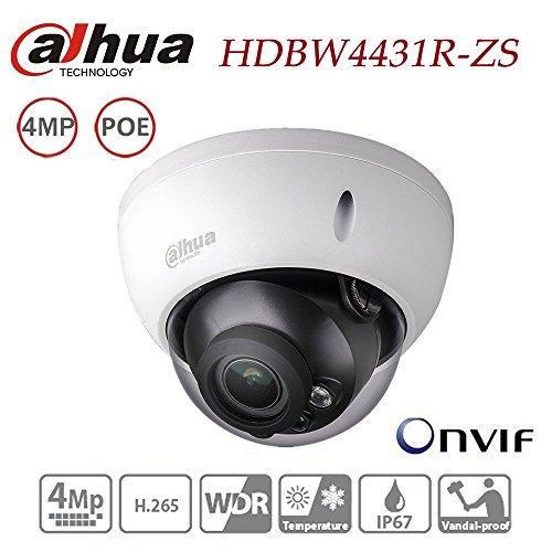 Dahua Dome Camera HDBW4431R-ZS 4MP IP Camera Varifocal Motorized Zoom 2.7-12mm lens POE Waterproof Outdoor Network Security Surveillance System IP67 IK10 ONVIF H.265 H.264 International Version