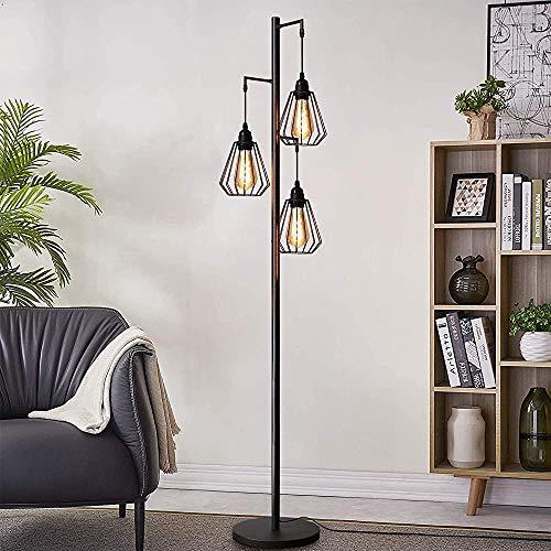 Stehlampe, drei Flammen Industriedesign alte Stehlampe, Stehlampe Eisen, Metall Stehlampe,Metal