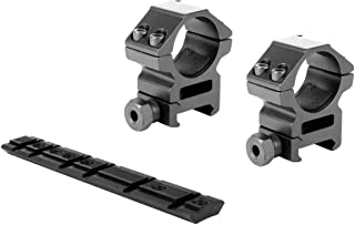 GOTICAL Ruger 1022 10/22 Base Scope Mount Ruger 10/22 Rail+ 1 Pair Medium 25.4mm Rings 1 Inch Scope Ring
