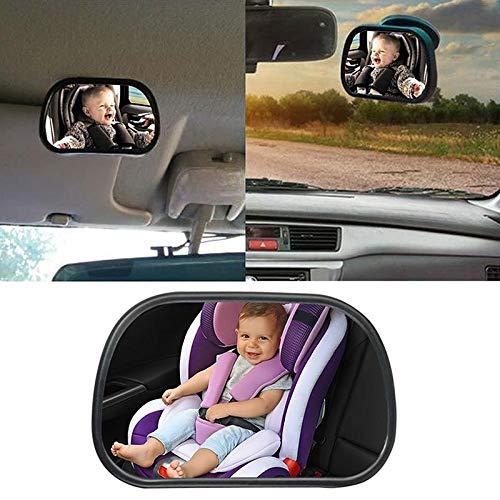specchietto retrovisore bambino,S TedGem Baby Bambino Vista posteriore Specchio