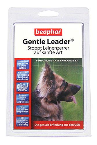Gentle Leader® für Hunde | Erziehnungshilfe für Leinenzerrer | Besser führen & kontrollieren | Trainings-Halsband für Hunde | Farbe: Schwarz | Größe L