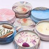 3 velas aromáticas hechas a mano, sin humo, aire fresco, estado de ánimo relajante, tiempo libre, brisa tropical, melocotones dulces, amante de púrpura, En caja de regalo., Gift Box