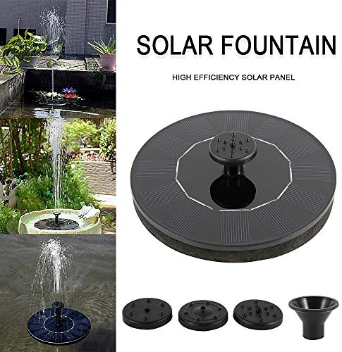 PETAMANIM Solar Power Pump, Bird Bath Fountain Water Floating Pond Garden Patio Decor