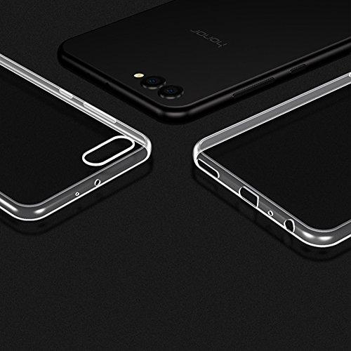 TopACE Hülle für Honor View10, Honor V10 TPU Hülle Schutzhülle Crystal Case Durchsichtig Klar Silikon Transparent für Huawei Honor View 10 (Transparent) - 5