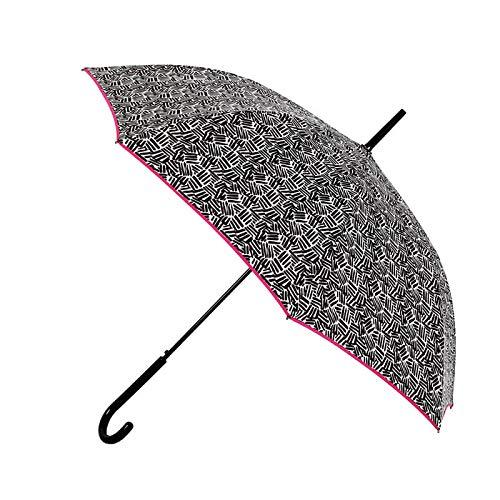Paraguas Largo automático de Mujer Vogue 184V (Negro/Fucsia)