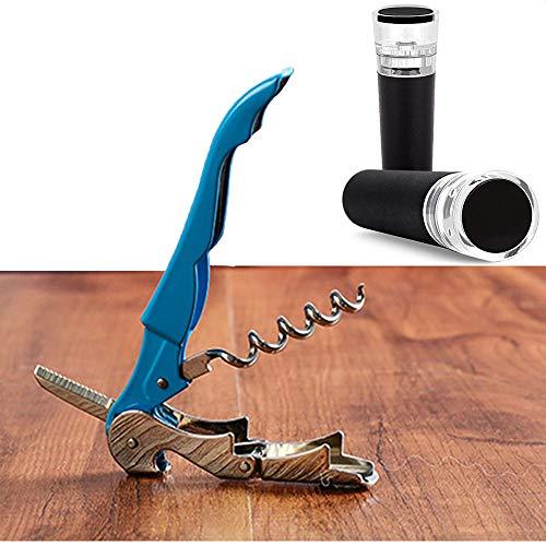 N/A Corkscrew, wijnkurkentrekkerset, herbruikbare vacuümstop en wijnkurkentrekkerset voor bier, wijn, champagne.
