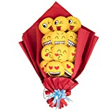 SCS Direct Mother's Day Emoji Plush Gift Bouquet with 12 Stems - Cute Alternative to Flowers, Candy, Chocolate for Mom, Wife, Girlfriend, Daughter, Grandmother