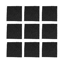 Hemoton バケツの堆肥ガロンのバケツのカウンタートップの大箱のために環境に優しい12個の木炭フィルター交換高品質の丸型(正方形、12個/セット)
